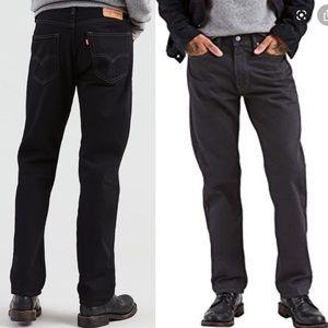 Levi's 505 Black straight leg jeans 30x32